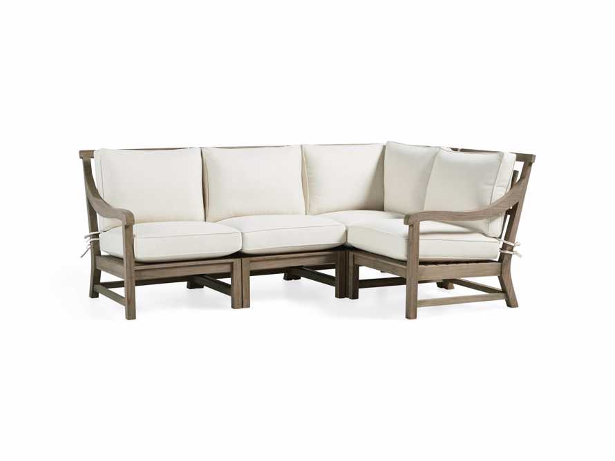 Hamptons Outdoor 4 Piece Weathered Fawn Sectional, slide 3 of 5