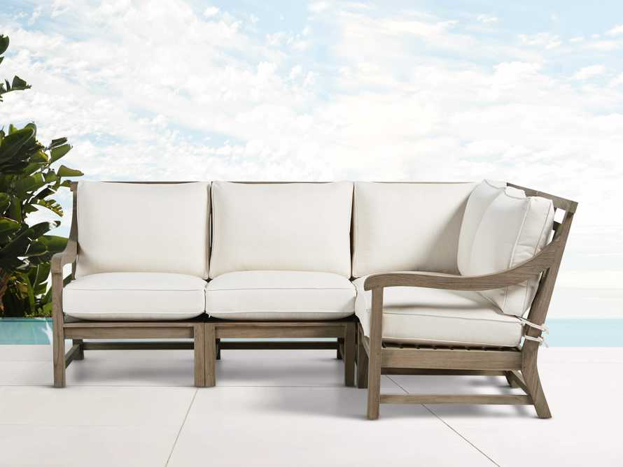 Hamptons Outdoor 4 Piece Weathered Fawn Sectional, slide 1 of 5