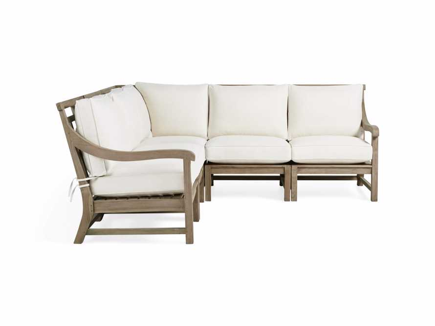 Hamptons Outdoor Weathered Fawn 5 Piece Sectional, slide 2 of 6