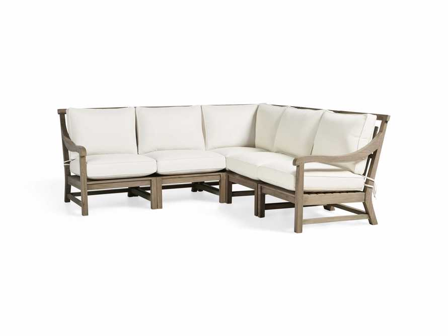 Hamptons Outdoor Weathered Fawn 5 Piece Sectional, slide 3 of 6