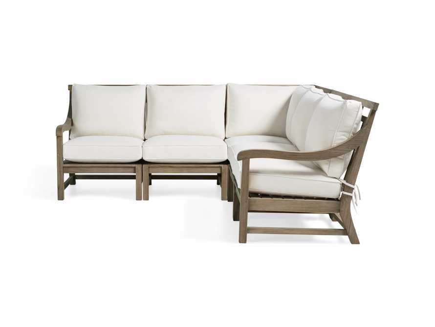 Hamptons Outdoor Weathered Fawn 5 Piece Sectional, slide 4 of 6