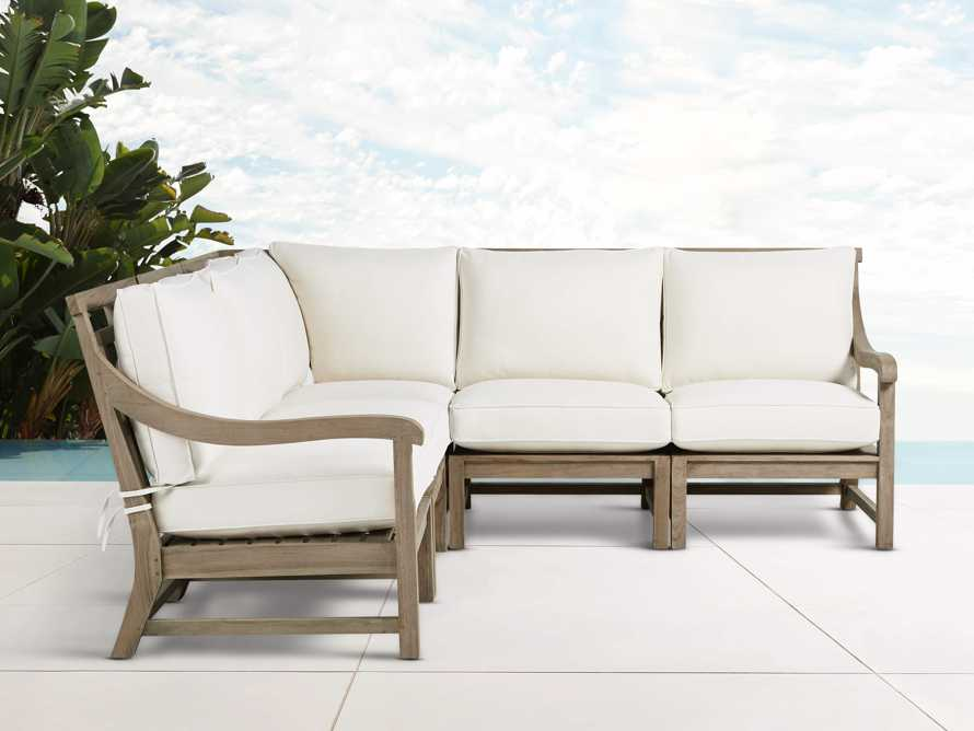 Hamptons Outdoor Weathered Fawn 5 Piece Sectional, slide 1 of 6