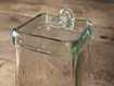 """Recycled Glass 4"""" Hang Square In Clear"""