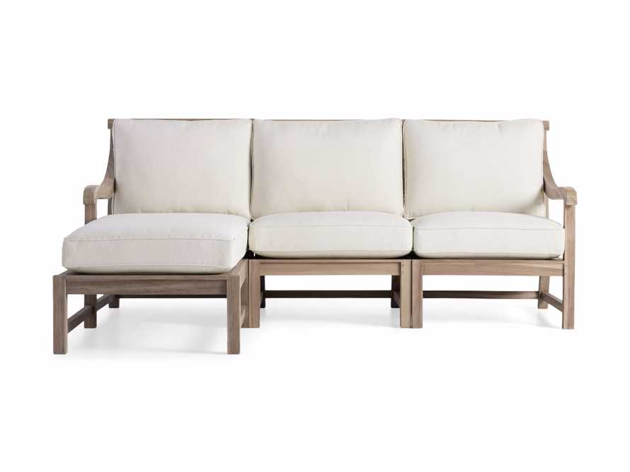 Hamptons Outdoor Three Piece Left Arm Sectional, slide 2 of 4