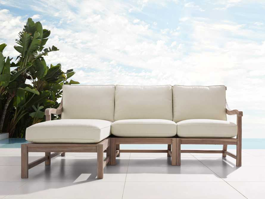 Hamptons Outdoor Three Piece Left Arm Sectional, slide 1 of 4