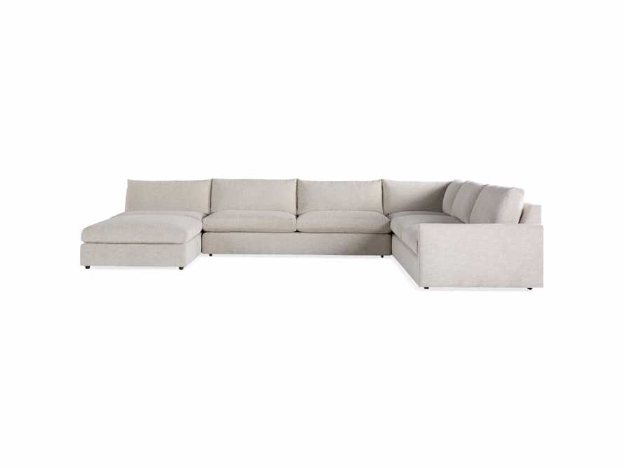 """Kipton Upholstered 175"""" Left Arm Five Piece Sectional with Ottoman, slide 6 of 7"""