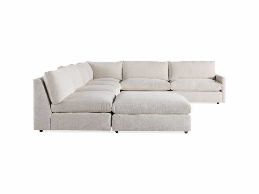 "Kipton Upholstered 175"" Left Arm Five Piece Sectional with Ottoman"