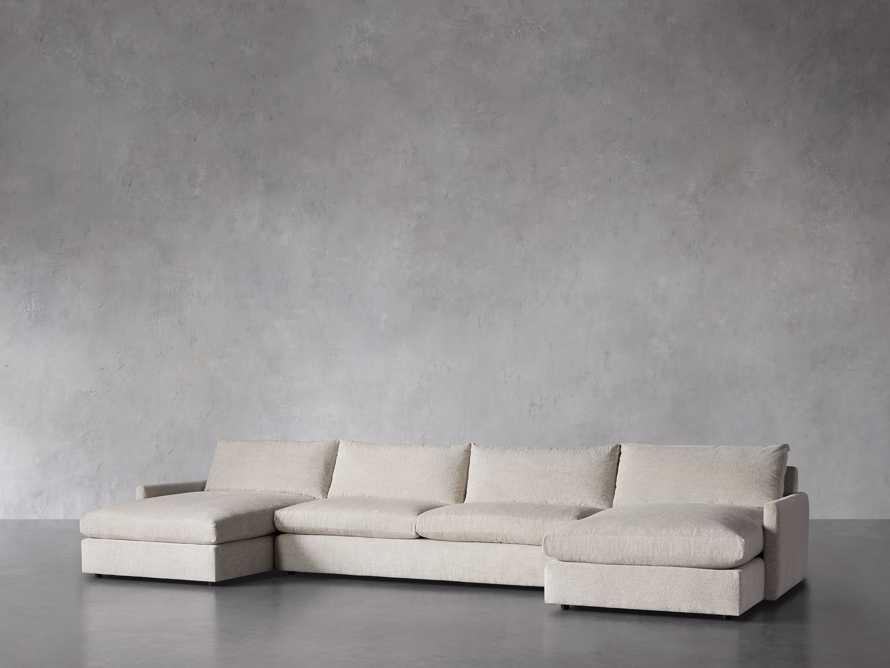 """Kipton 184"""" Upholstered Double Chaise Sectional, slide 3 of 8"""
