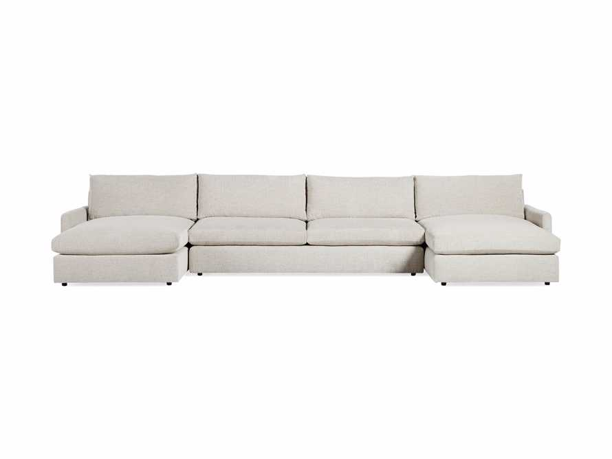 """Kipton 184"""" Upholstered Double Chaise Sectional, slide 7 of 8"""