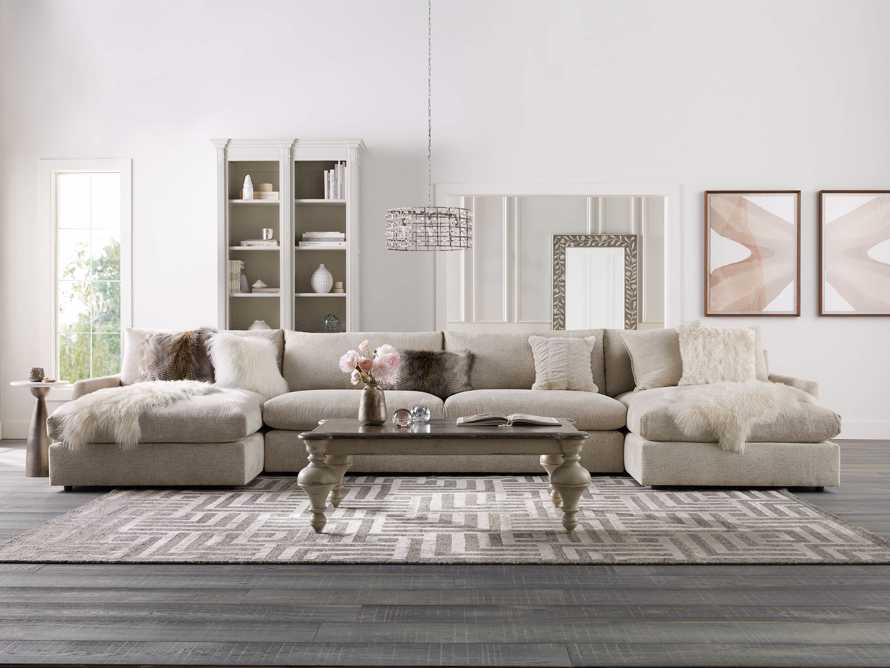 """Kipton 184"""" Upholstered Double Chaise Sectional, slide 1 of 7"""