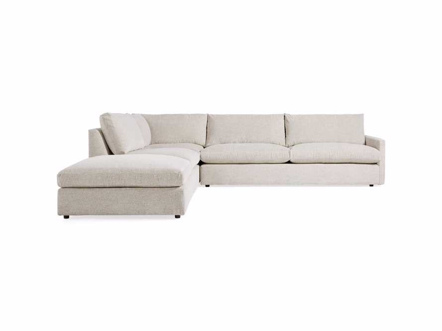 "Kipton Upholstered 135"" Four Piece Left Arm Sectional, slide 7 of 9"