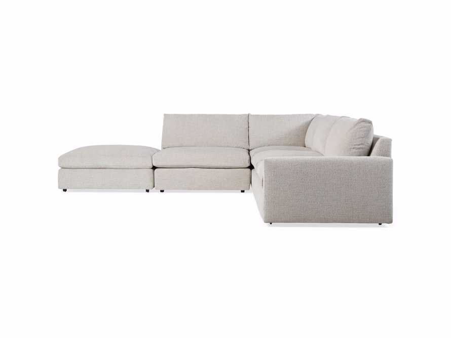 "Kipton Upholstered 135"" Four Piece Left Arm Sectional, slide 9 of 9"