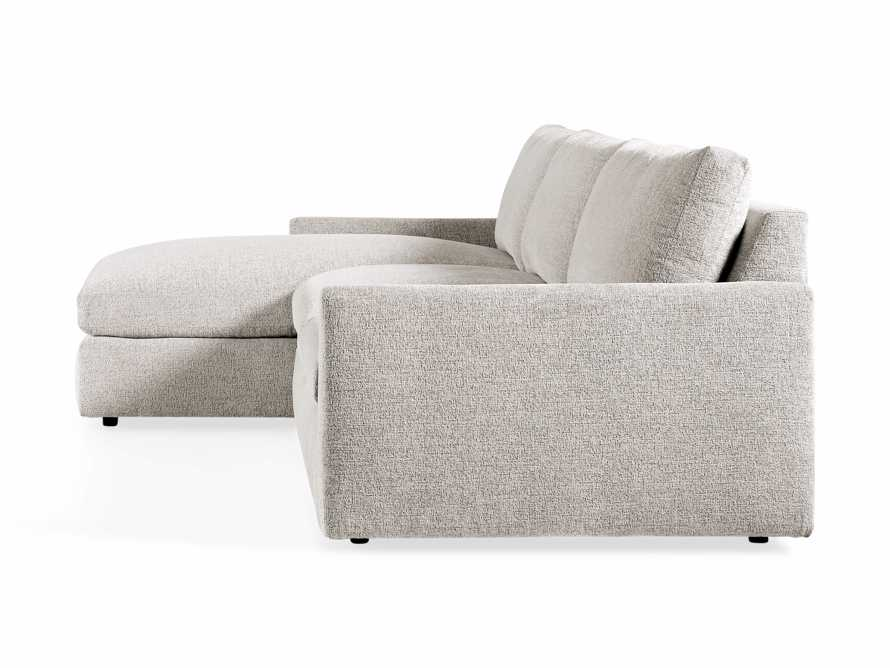 "Kipton Upholstered 139"" Two Piece Left Arm Sectional with Chaise, slide 7 of 7"