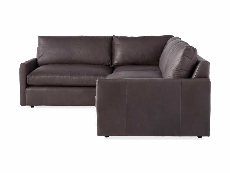 Kipton Leather Two Piece Sectional in Prado Fumo - R Arm, slide 5 of 5