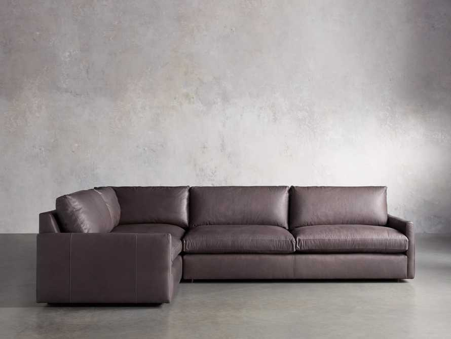 Kipton Leather Two Piece Sectional in Prado Fumo - R Arm, slide 1 of 5