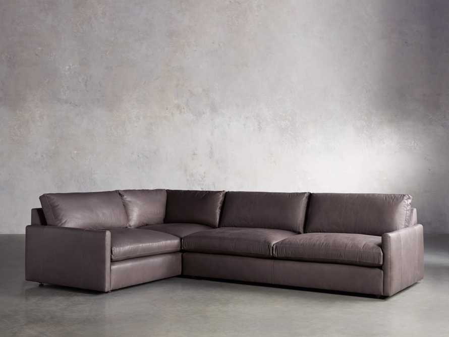 Kipton Leather Two Piece Sectional in Prado Fumo - R Arm, slide 2 of 5