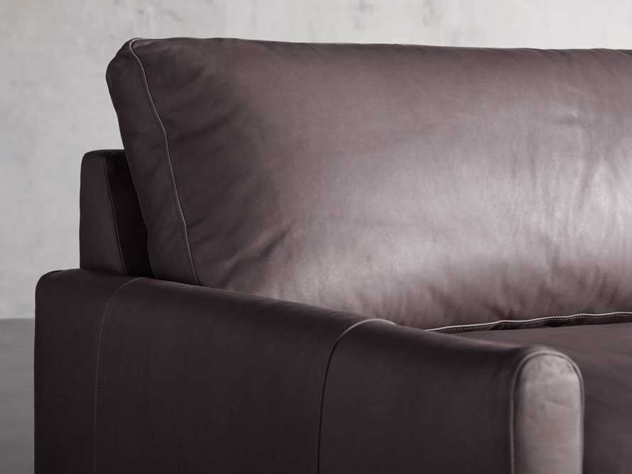 Kipton Leather Two Piece Sectional in Prado Fumo - R Arm, slide 3 of 5