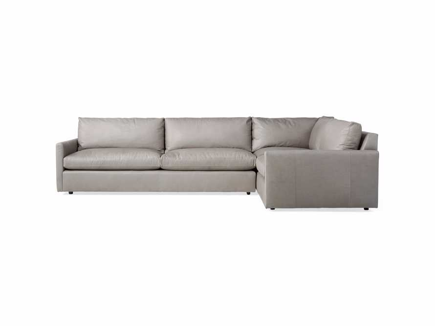 Kipton Leather Two Piece Left Arm Sectional