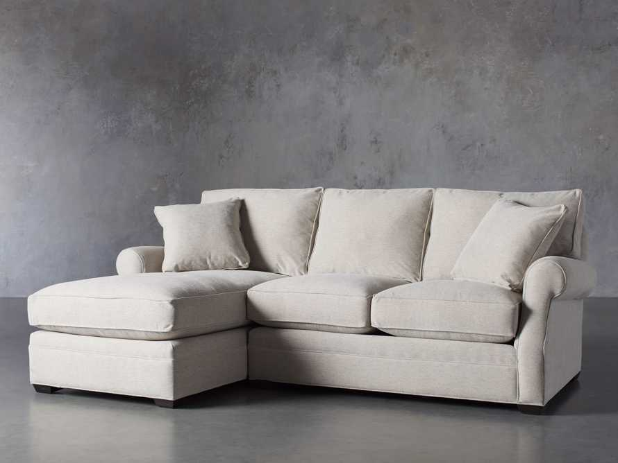 """Landsbury Upholstered 99"""" Left Arm Two Piece Sectional"""