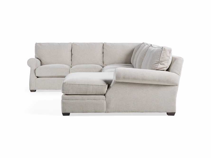 "Landsbury Upholstered 159"" Reverse Three Piece Large Chaise Sectional"