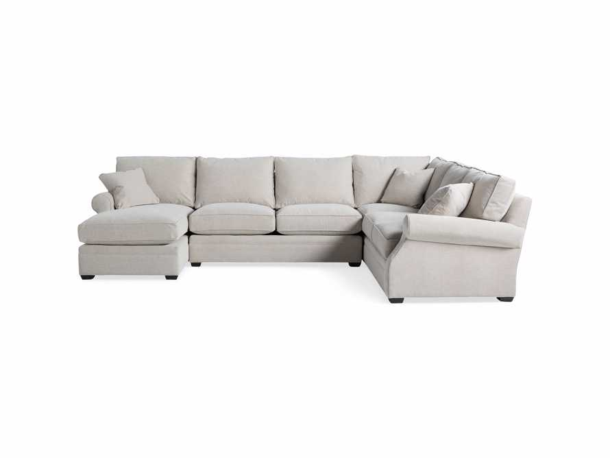"Landsbury Upholstered 145"" Right Arm Three Piece Sectional, slide 6 of 8"
