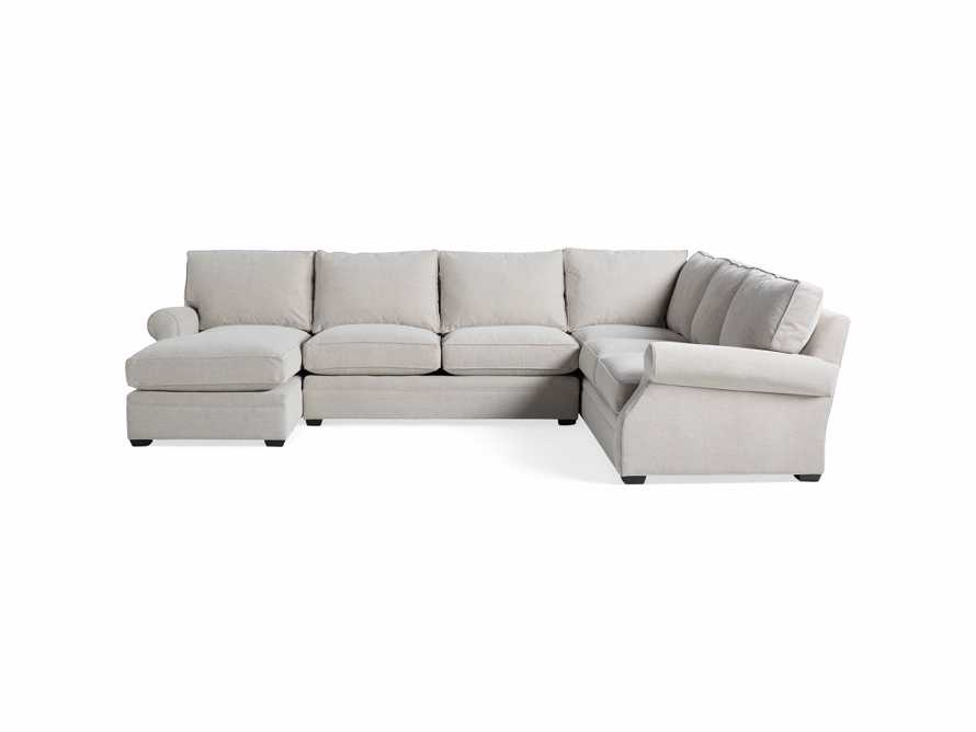 "Landsbury Upholstered 145"" Right Arm Three Piece Sectional, slide 7 of 8"