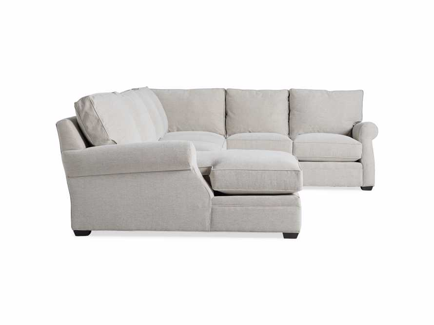 "Landsbury Upholstered 145"" Right Arm Three Piece Sectional, slide 8 of 8"