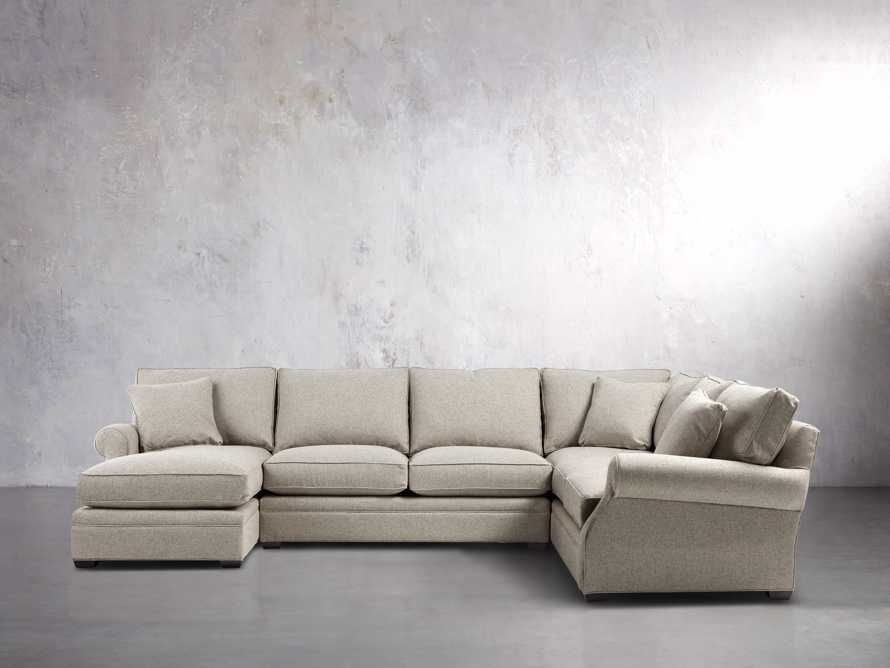 "Landsbury 145"" Three Piece Upholstered Left Sectional"
