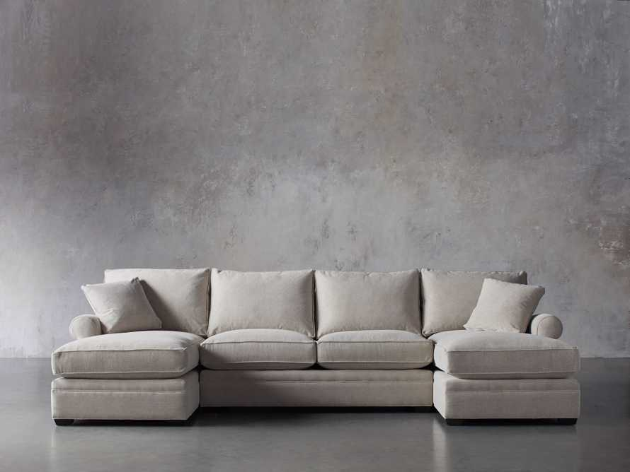"""Landsbury 137"""" Upholstered Double Chaise Sectional, slide 1 of 7"""