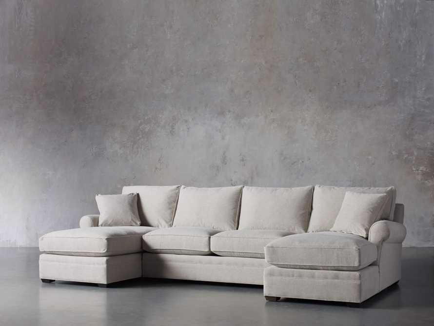 """Landsbury 137"""" Upholstered Double Chaise Sectional, slide 2 of 7"""