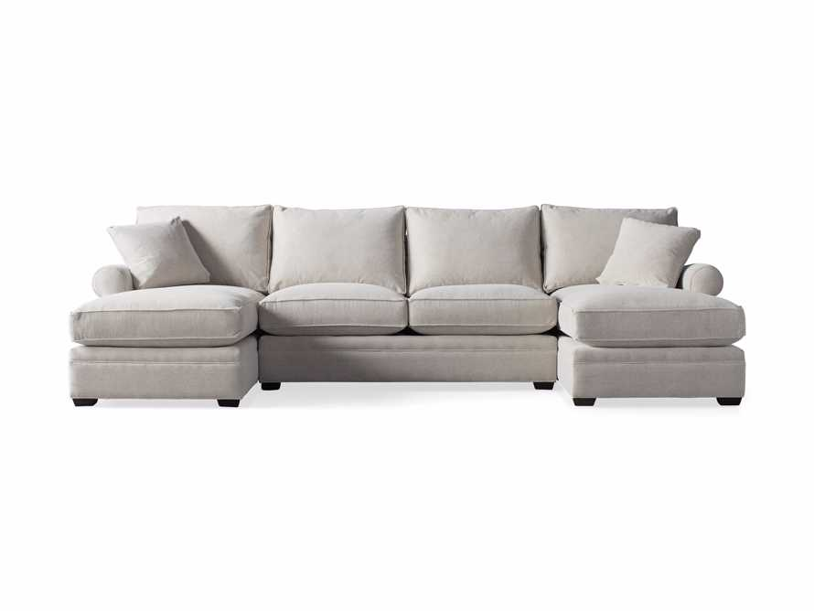"""Landsbury 137"""" Upholstered Double Chaise Sectional, slide 6 of 7"""