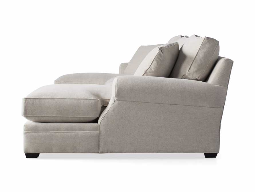"""Landsbury 137"""" Upholstered Double Chaise Sectional, slide 7 of 7"""