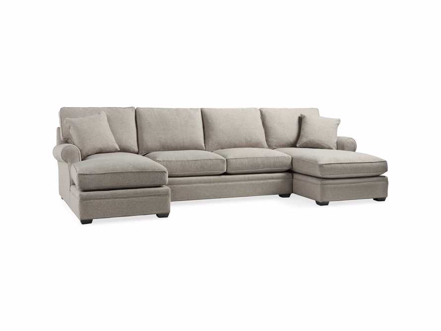 """Landsbury 137"""" Upholstered Double Chaise Sectional"""