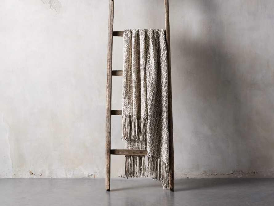Chunky Knit Ivory Grey Throw