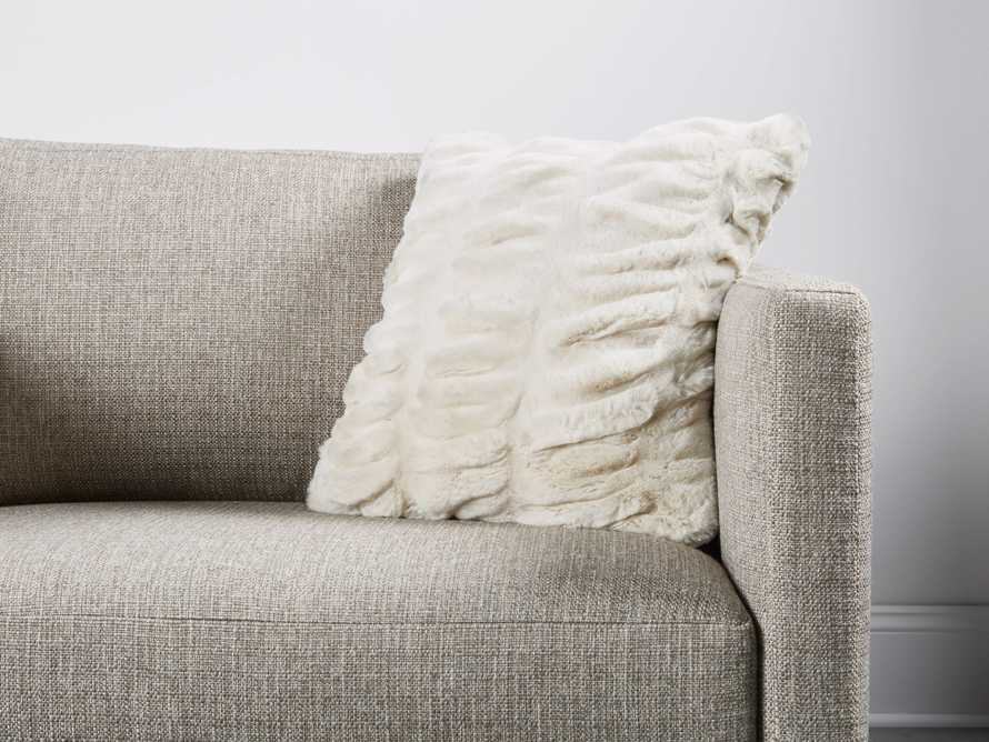 FAUX FUR LUXE SQUARE PILLOW COVER IN IVORY, slide 3 of 3