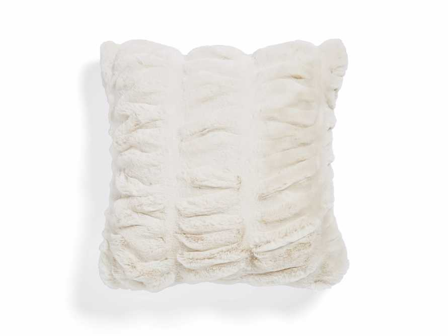 FAUX FUR LUXE SQUARE PILLOW COVER IN IVORY, slide 1 of 3