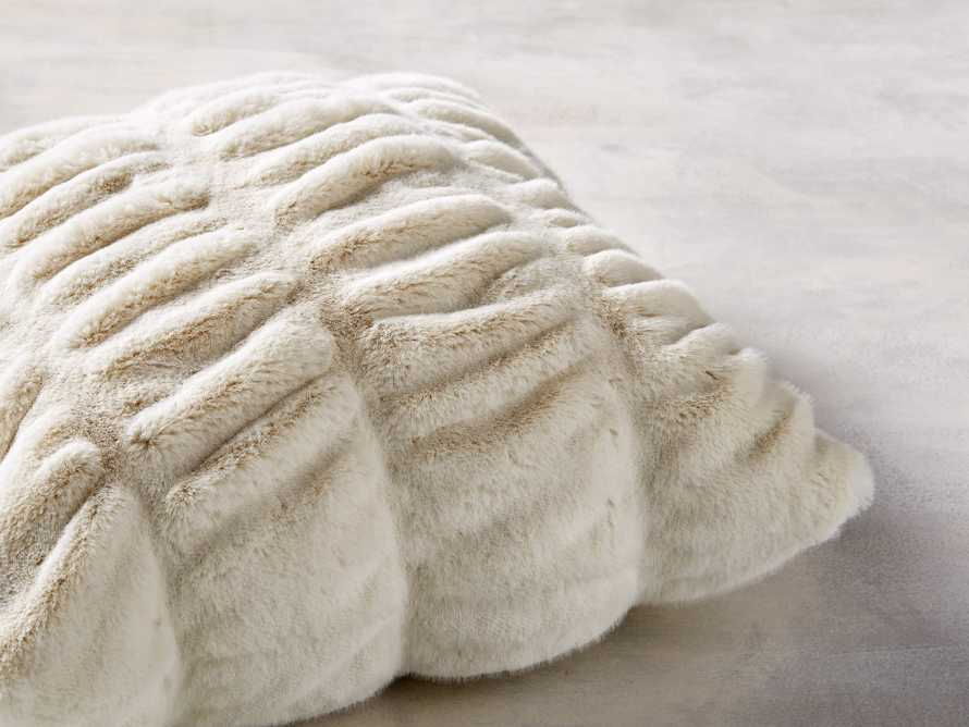 FAUX FUR LUXE SQUARE PILLOW COVER IN IVORY, slide 2 of 3
