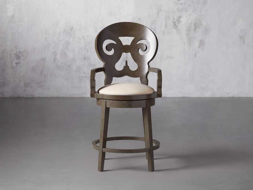 """Jordan 24"""" Counter Stool with Upholstered Seat, slide 2 of 9"""
