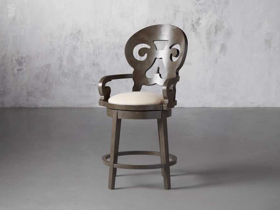 """Jordan 24"""" Counter Stool with Upholstered Seat, slide 3 of 9"""