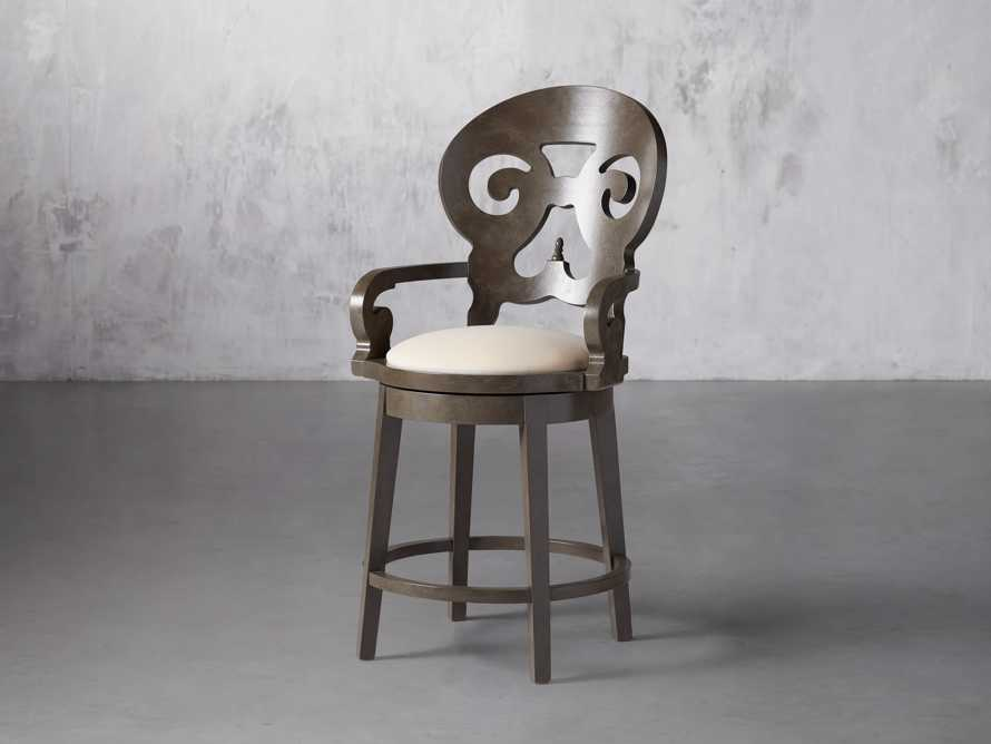 """Jordan 24"""" Counter Stool with Upholstered Seat, slide 4 of 9"""