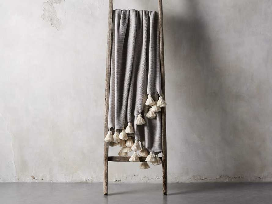 Marled Grey Knit Throw