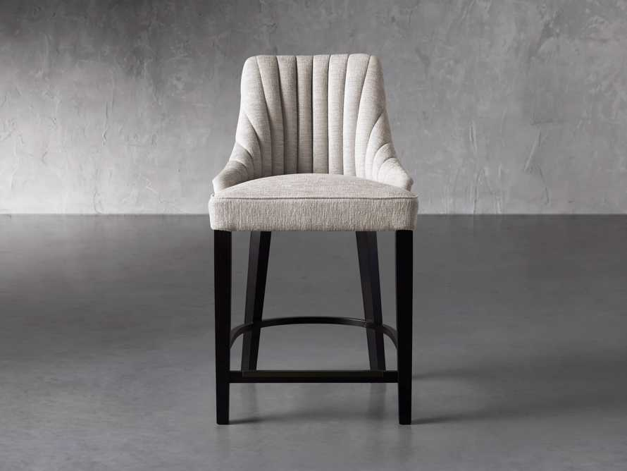 """Elisa 24"""" Channel Counter Stool in Magellano Taupe, slide 1 of 7"""