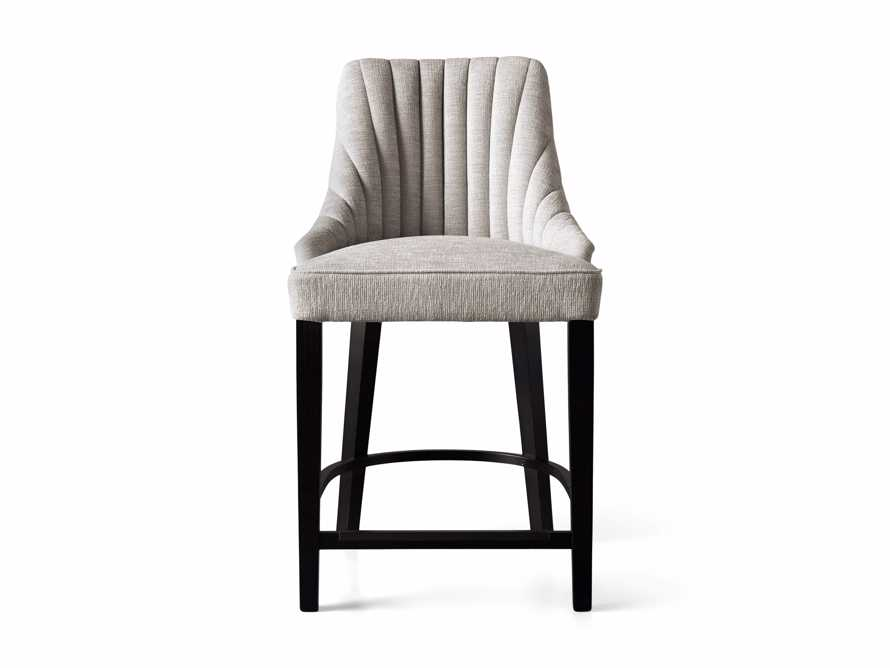 """Elisa 24"""" Channel Counter Stool in Magellano Taupe, slide 6 of 7"""