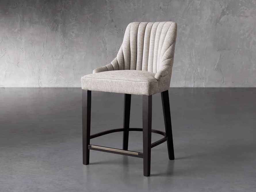 """Elisa 24"""" Channel Counter Stool in Magellano Taupe, slide 2 of 7"""