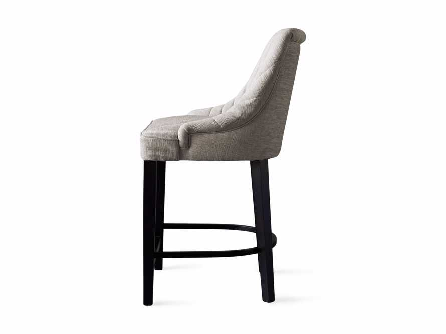 """Elisa 24"""" Channel Counter Stool in Magellano Taupe, slide 7 of 7"""