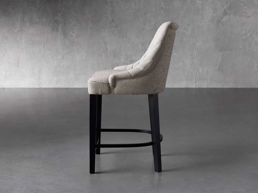 """Elisa 24"""" Channel Counter Stool in Magellano Taupe, slide 3 of 7"""