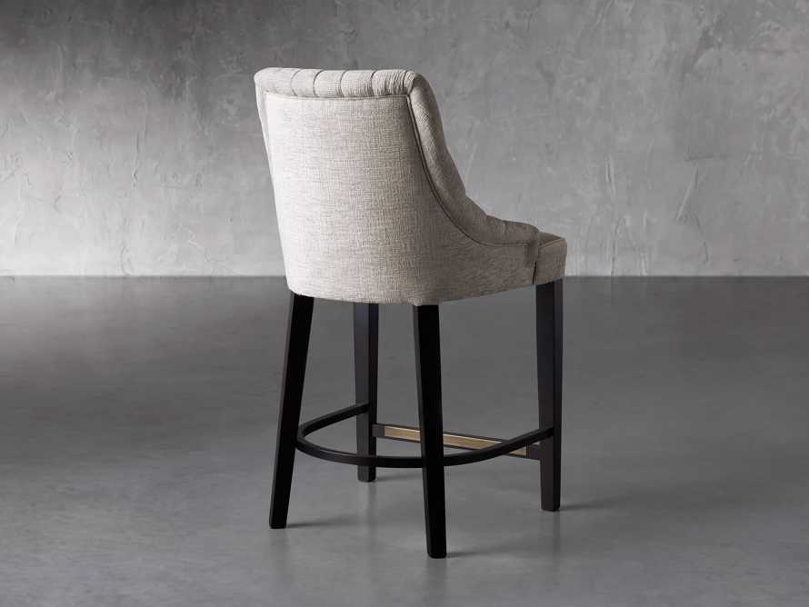"""Elisa 24"""" Channel Counter Stool in Magellano Taupe, slide 4 of 7"""