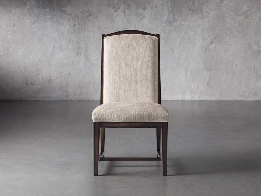 Isabella  Dining Side Chair in Taupe and Noceto, slide 2 of 8