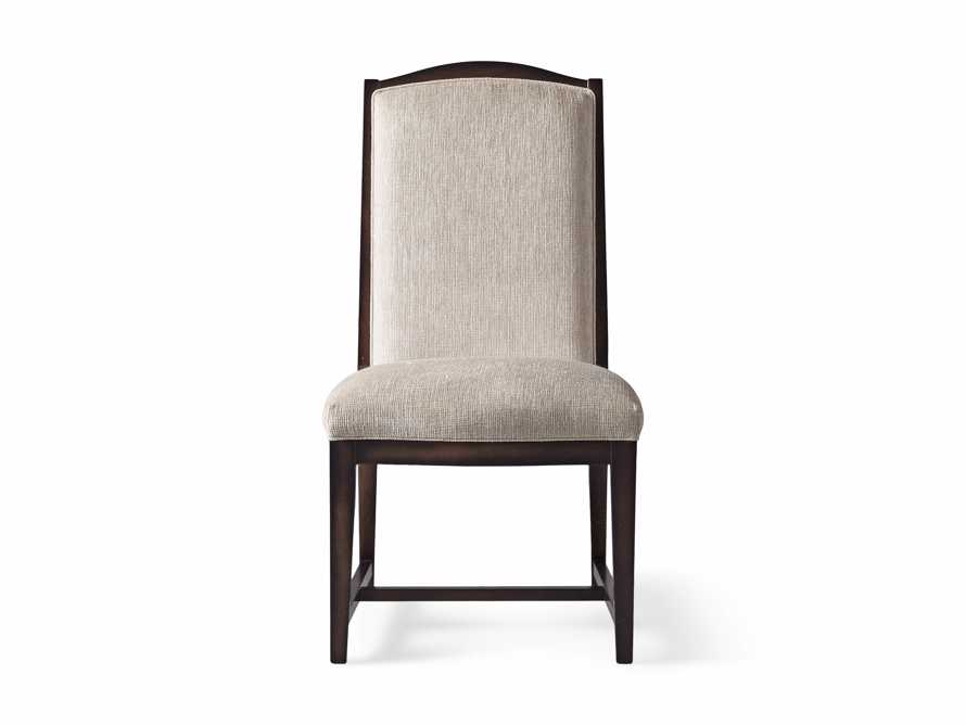 Isabella  Dining Side Chair in Taupe and Noceto, slide 7 of 8