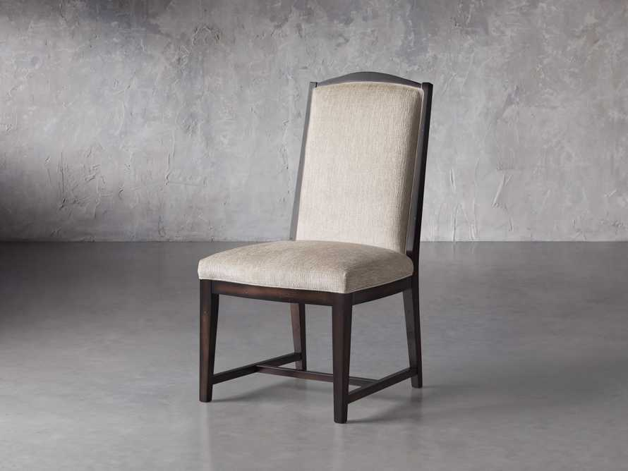 Isabella  Dining Side Chair in Taupe and Noceto, slide 3 of 8